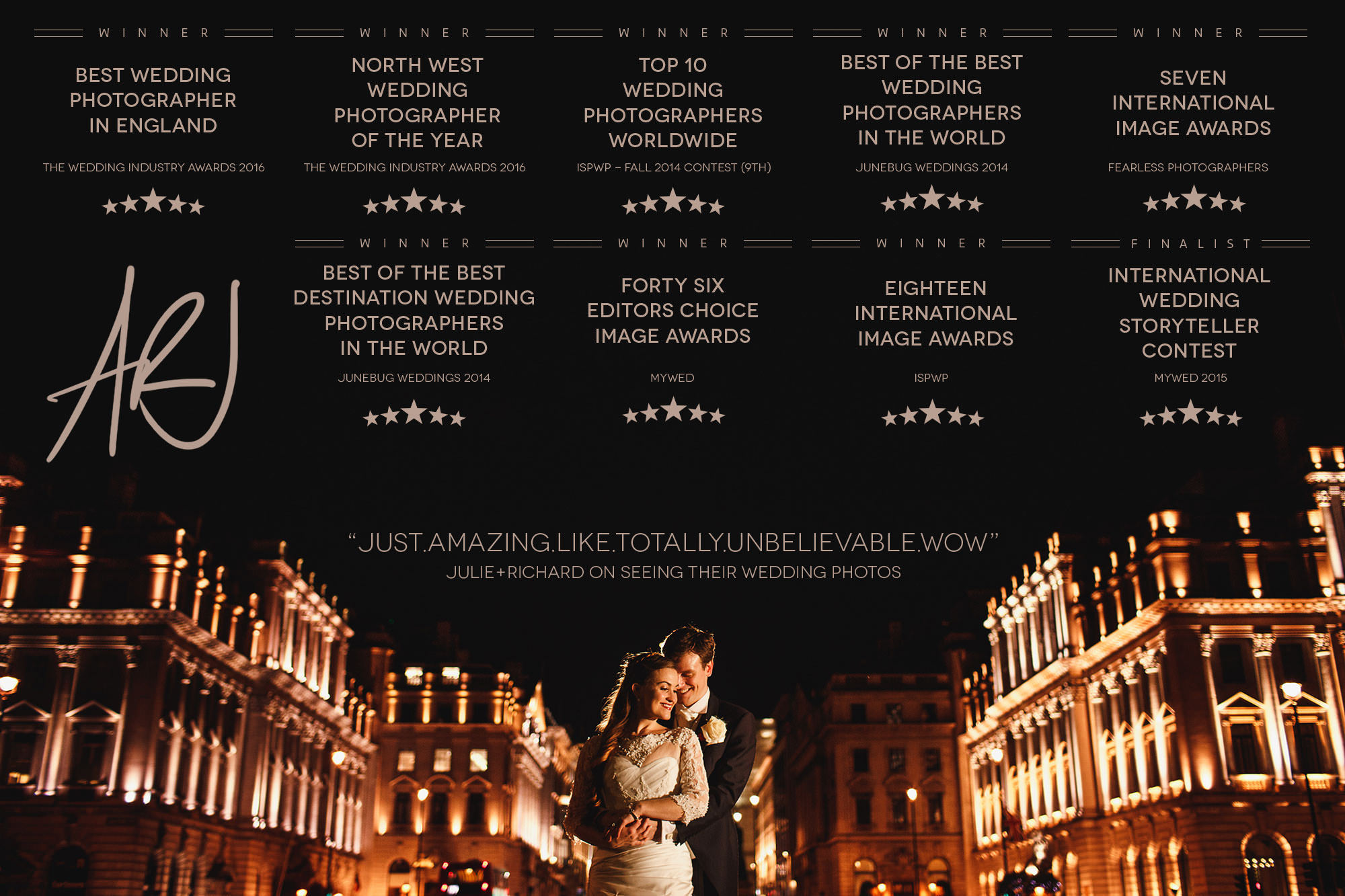 award winning wedding photography uk