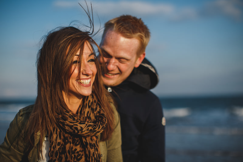 pre wedding photography abersoch - beach engagement shoot