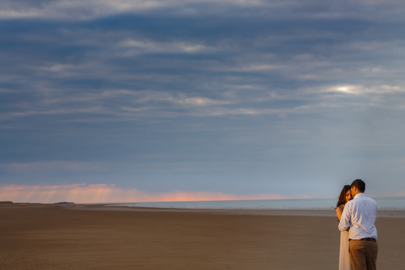 pre wedding photography norfolk engagement shoot holkham beach