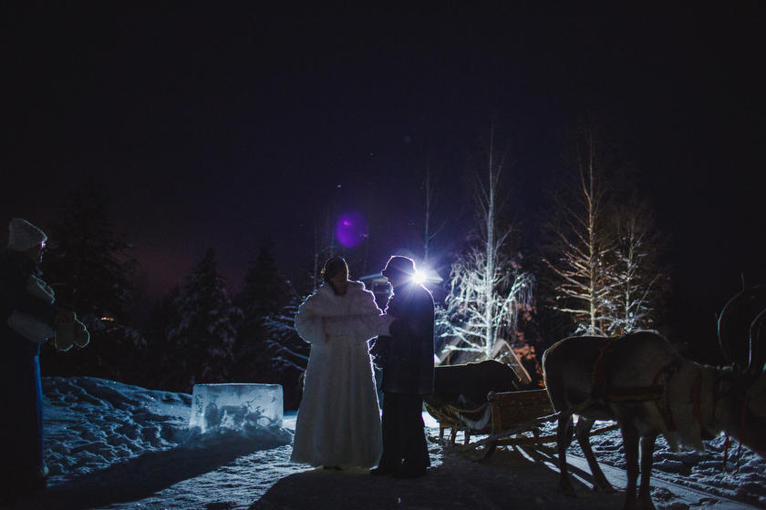 Lapland wedding photographer Kittila Snow Village 058