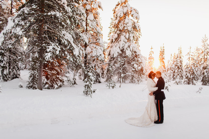 Lapland wedding photographer Kittila Snow Village 097