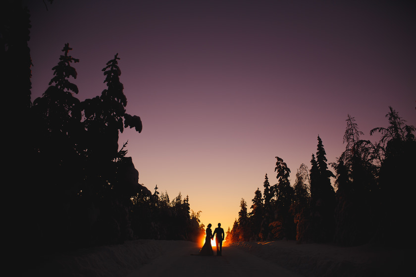 Lapland wedding photographer Kittila Snow Village 102