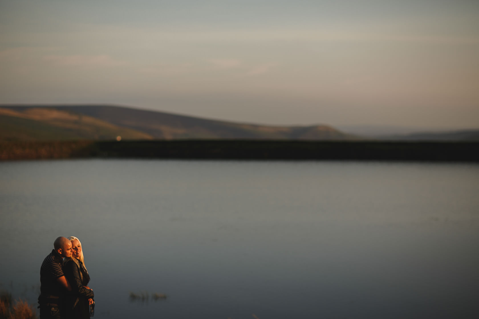 Golden hour engagement shoot, sunset prewedding, ARJ Photography www.arj-photo.co.uk