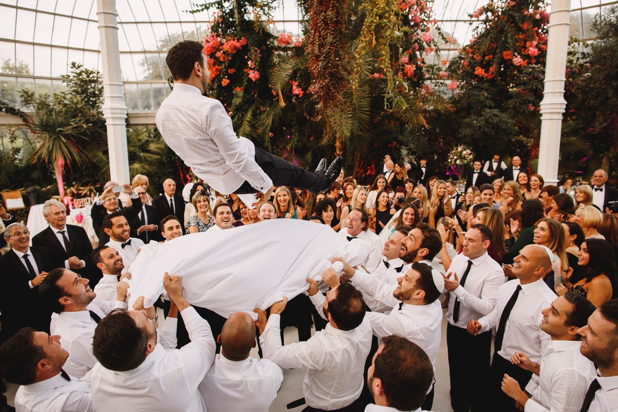 Jewish wedding photography UK - Sefton Park Palm House