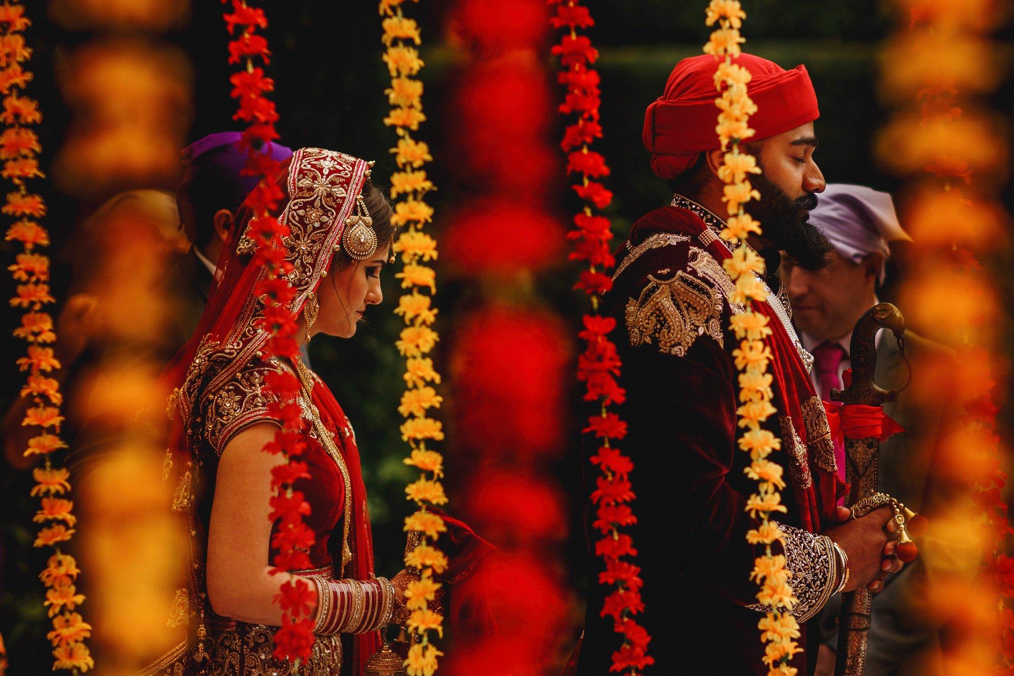 Artistic Sikh wedding photography - Thornton Manor