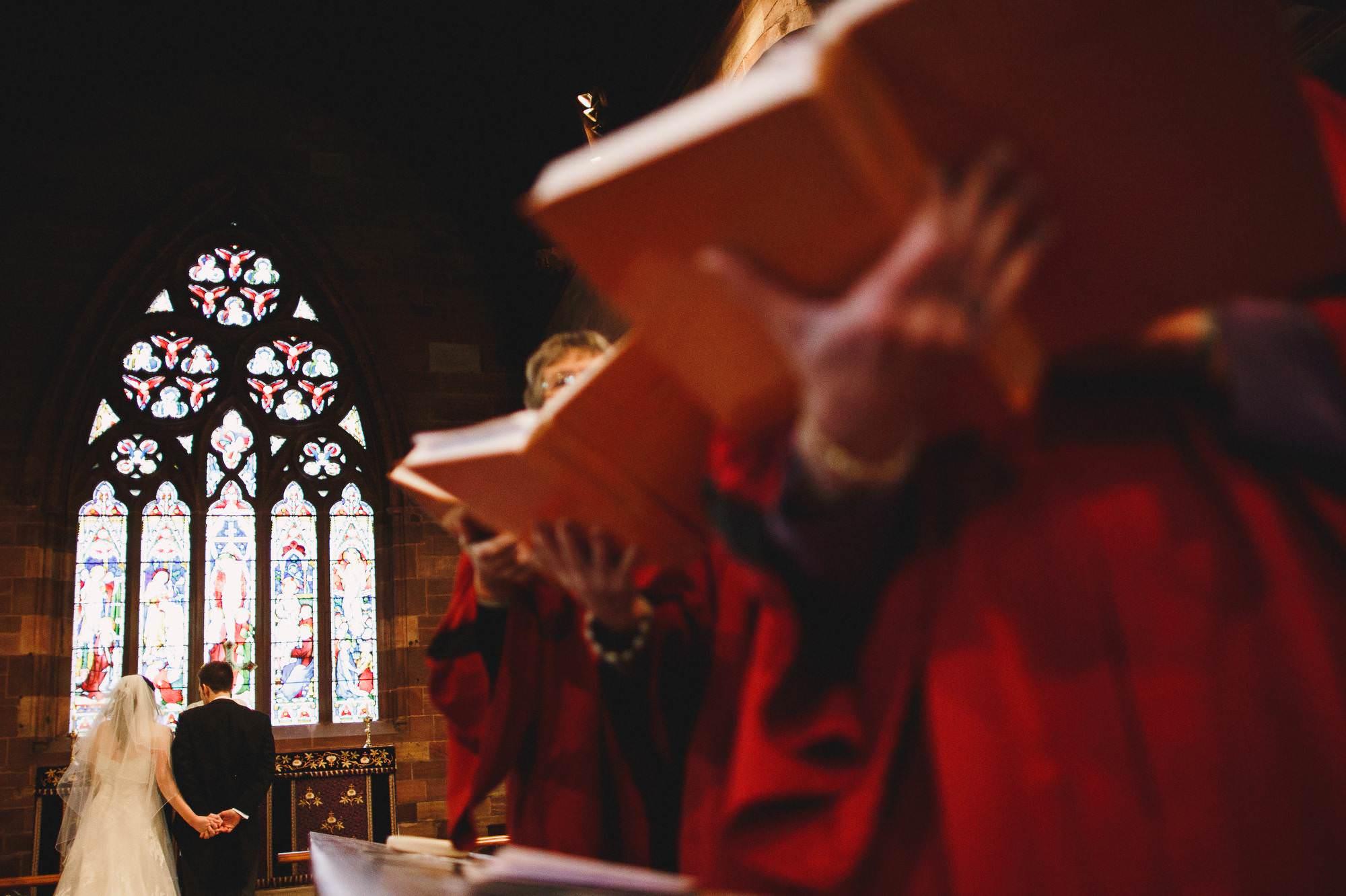 Cheshire wedding photography - church wedding cermemony