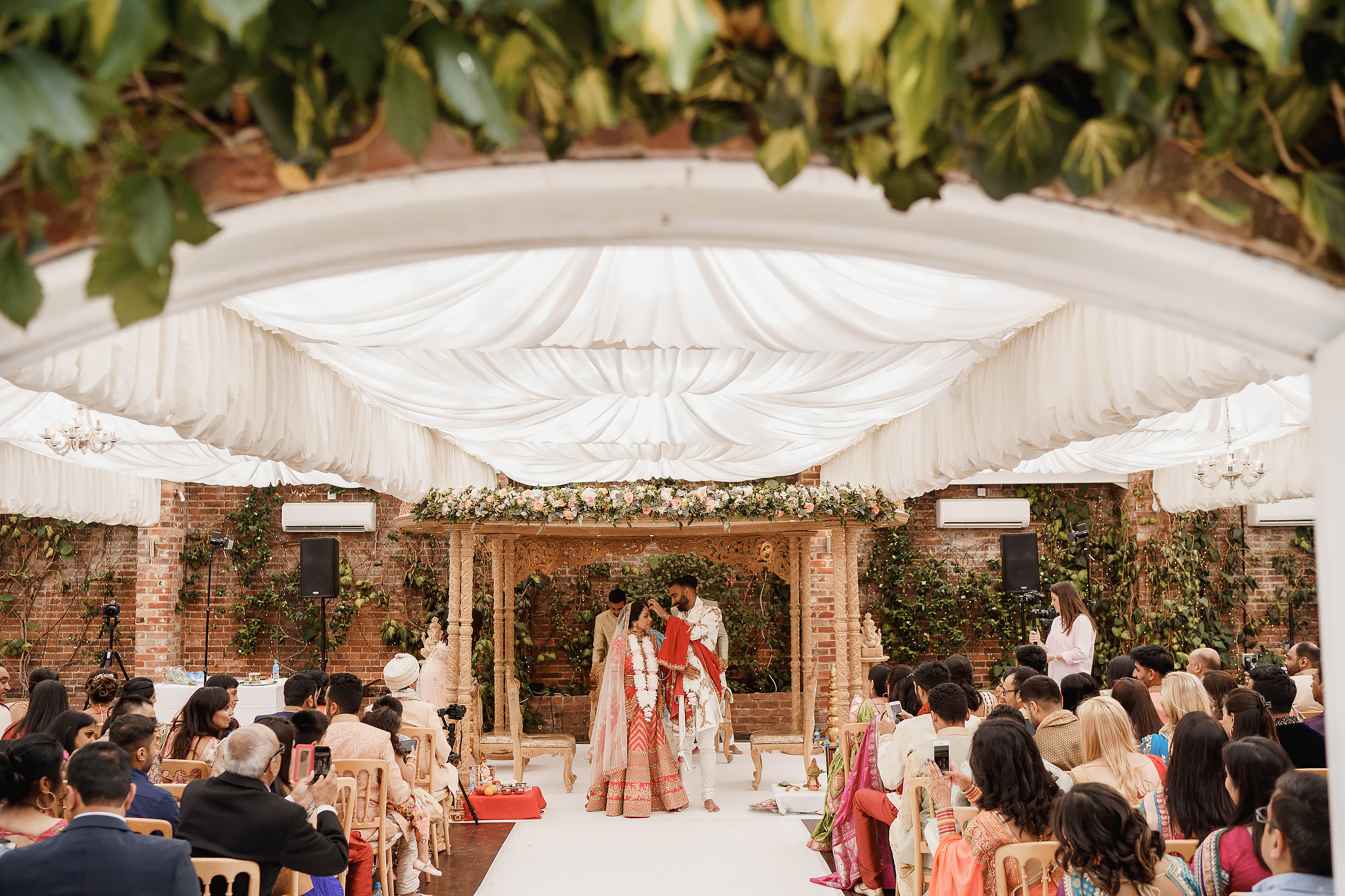 Northbrook Park Wedding Surrey of Kishan and Sachna by ARJ Photography