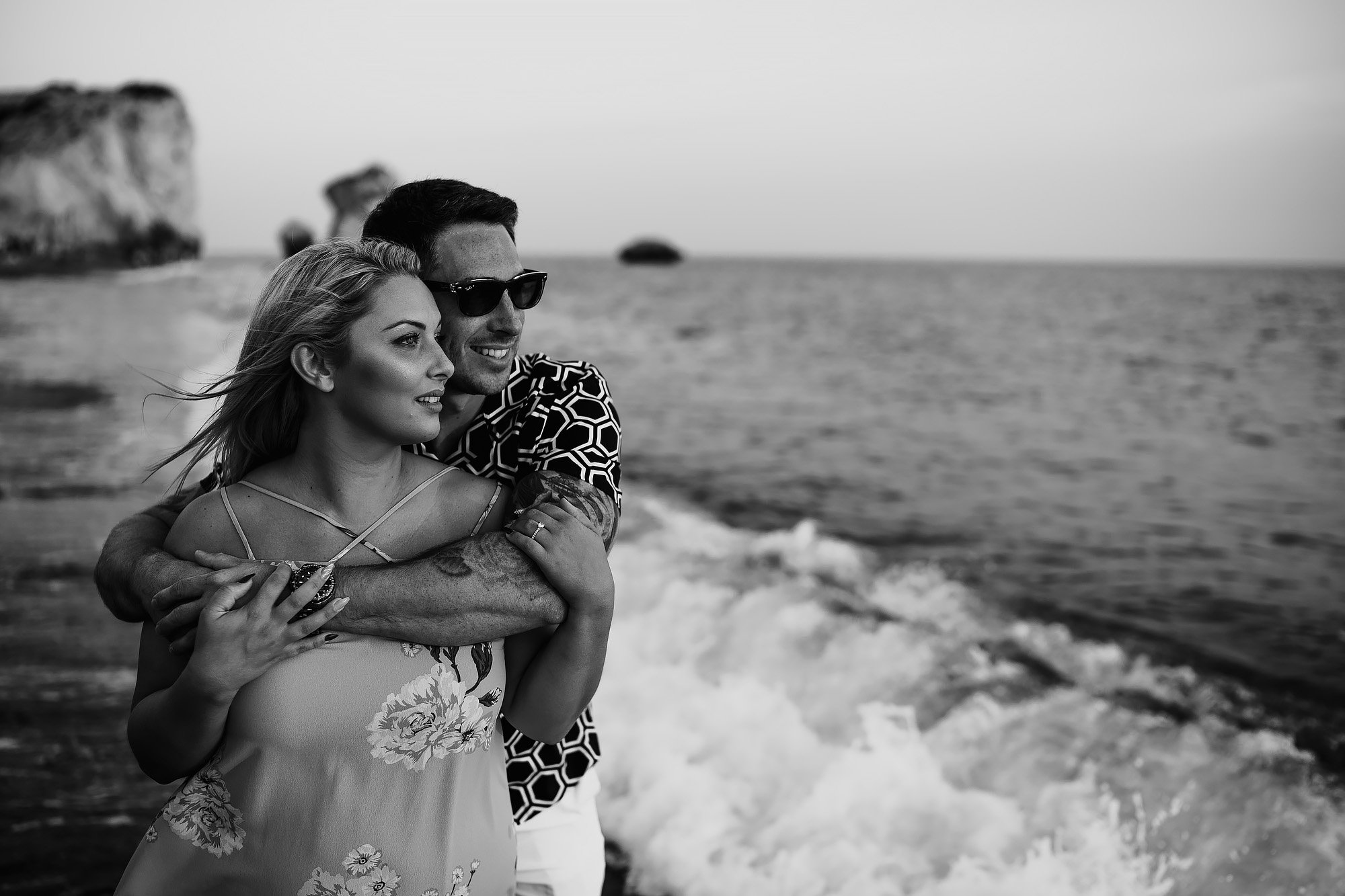 Cyprus Kouklia Aphrodite's Rock Engagement Shoot - Destination Wedding Photography by ARJ Photography