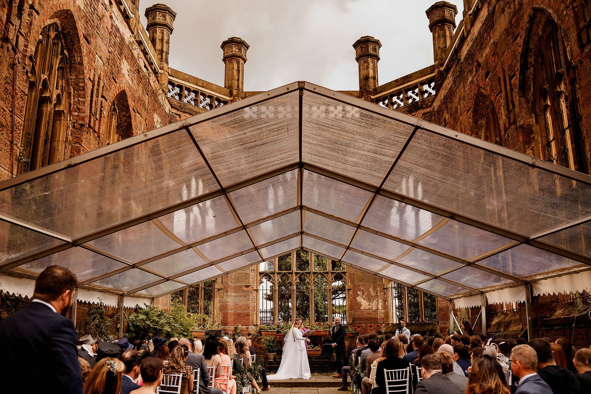Bombed out Church and One Fine Day Liverpool wedding photography - ARJ Photography®