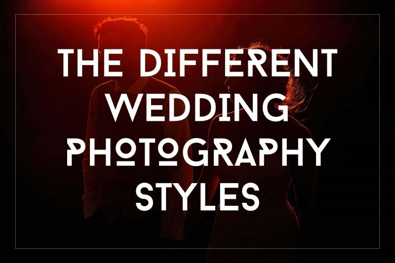 The different styles of wedding photography